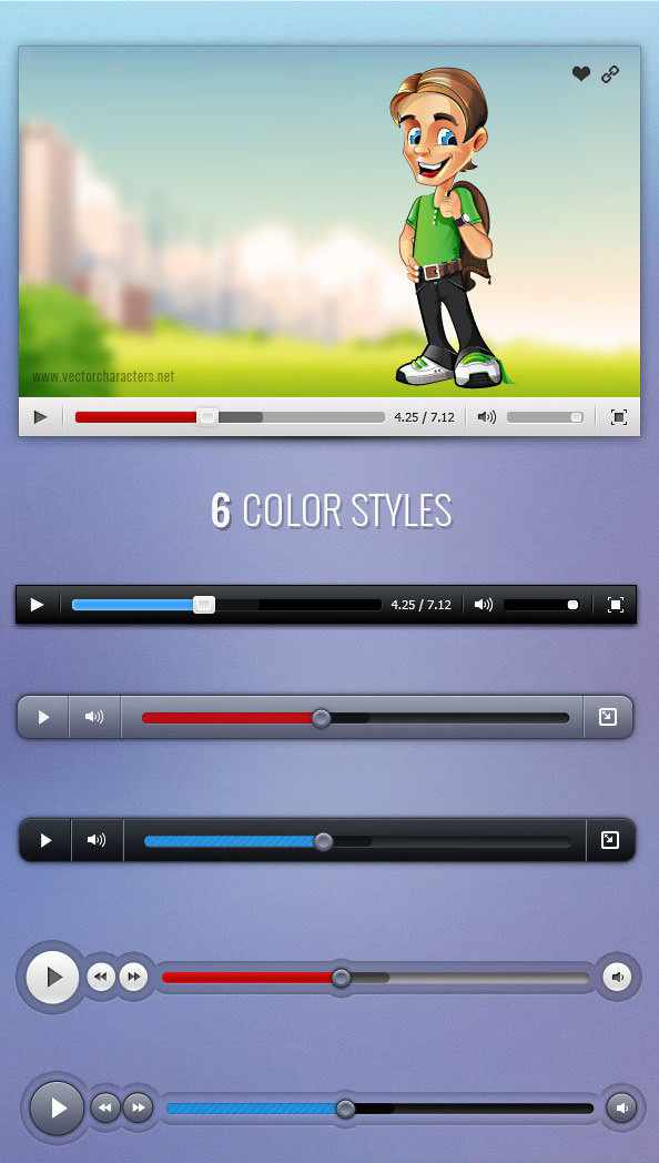 Video_Player_PSD_Set_Preview