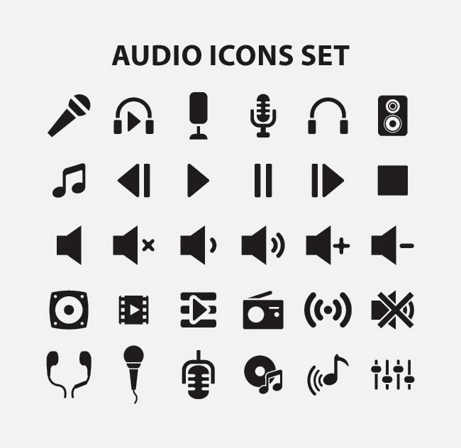 audio_icons_set
