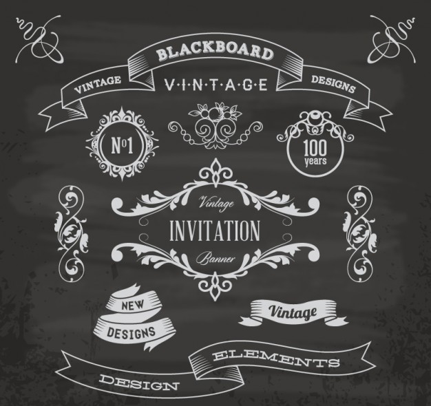 blackboard-anniversary-graphic-elements_23-2147490860