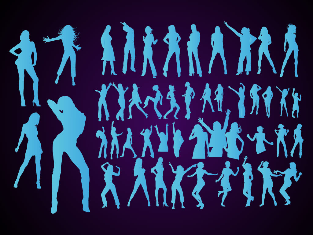 dancing-girls-vector-silhouettes