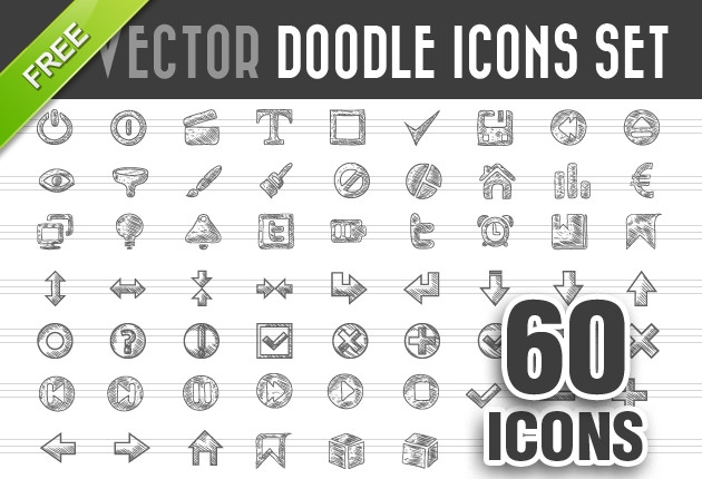 240+ Free Hand Drawn Vector PSD Doodle Icons