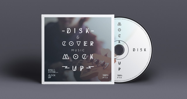 Cd Cover Presentation Brand Cover Mock up PSD Download