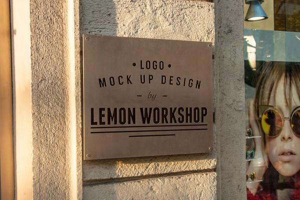 exterior signboard Mockup