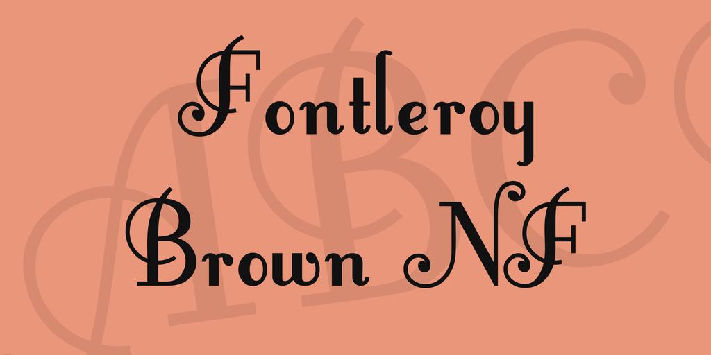 fontleroybrown-font-1-big