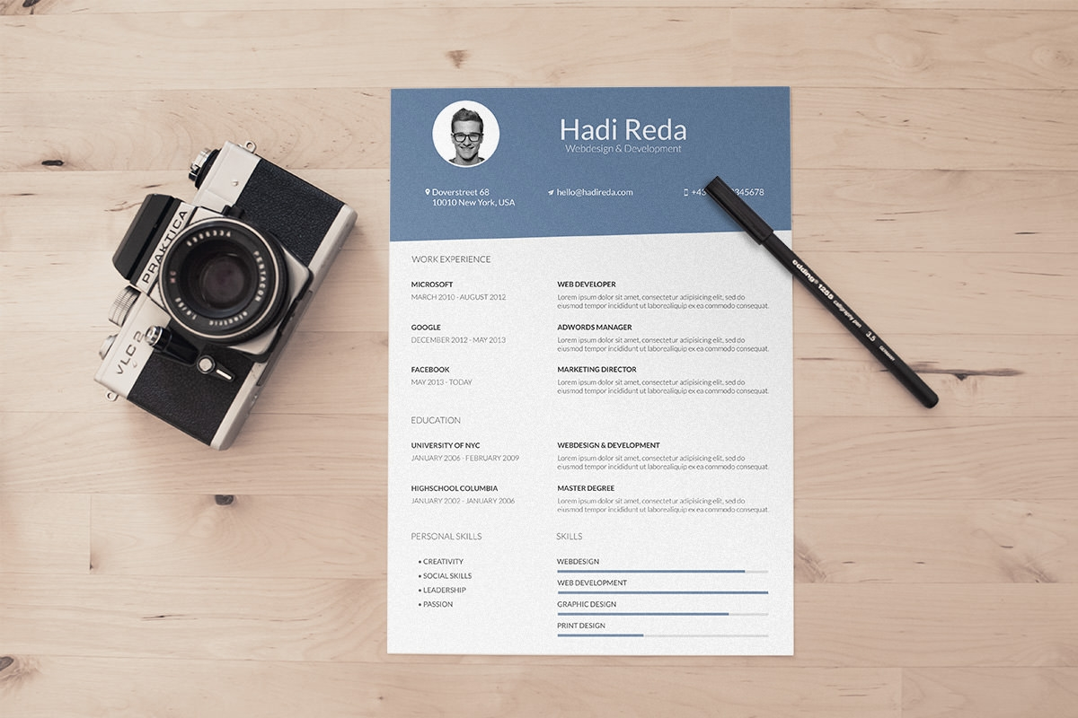 40 resume template designs creatives a4 size photographer psd resume template design resume template 2