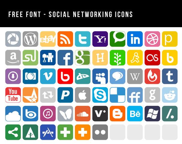 socila network icons