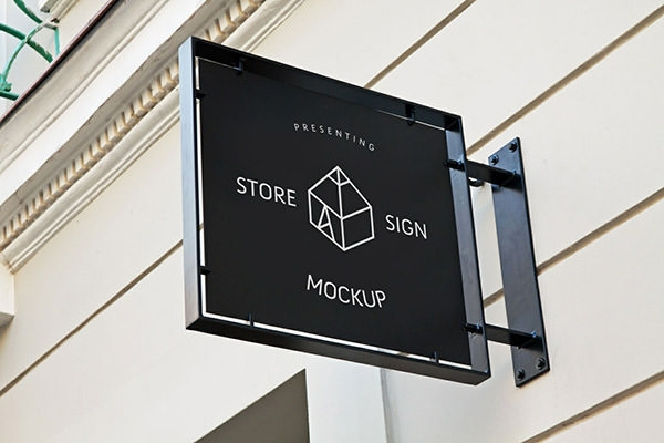 store sign mockup
