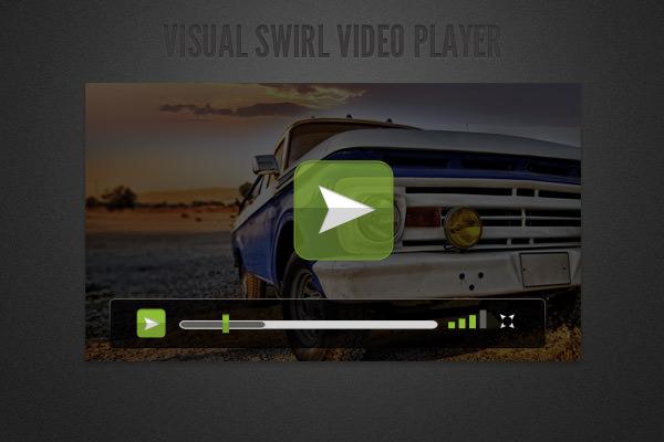 visual swirl video player