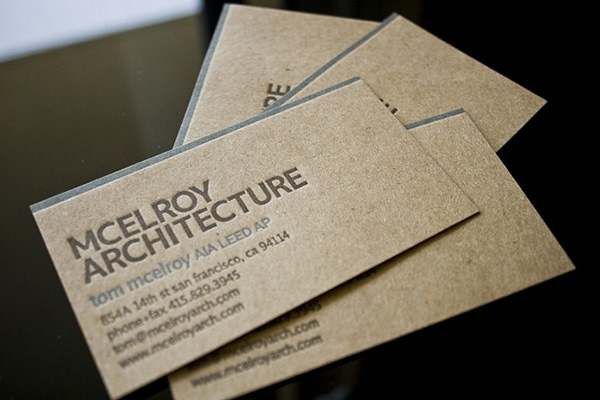 Slick Architects Business Card Design for Inspiration