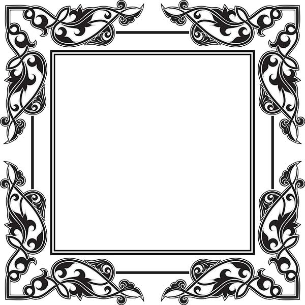 Good Frame Designs #7: Free Vector Oval Vintage Frame Design