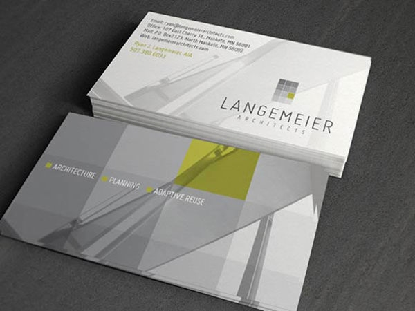 15 free business card designs for architectures