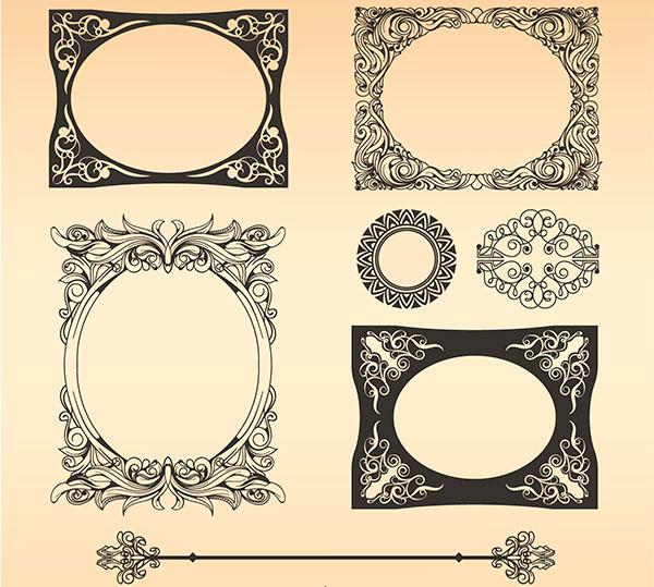 free vector vintage square frame design