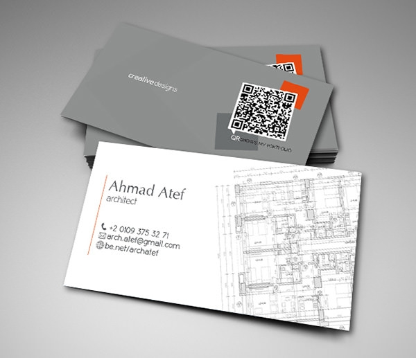 Architecture Business Card Part - 15: Unique Style Business Card For Architects