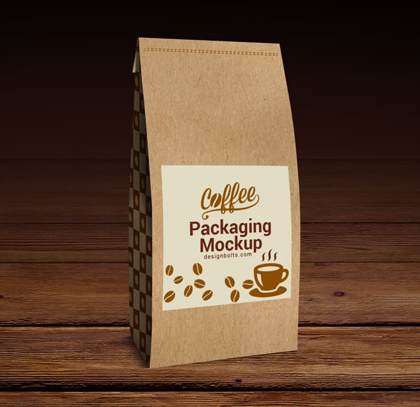Free PSD Coffee Packaging Mockup