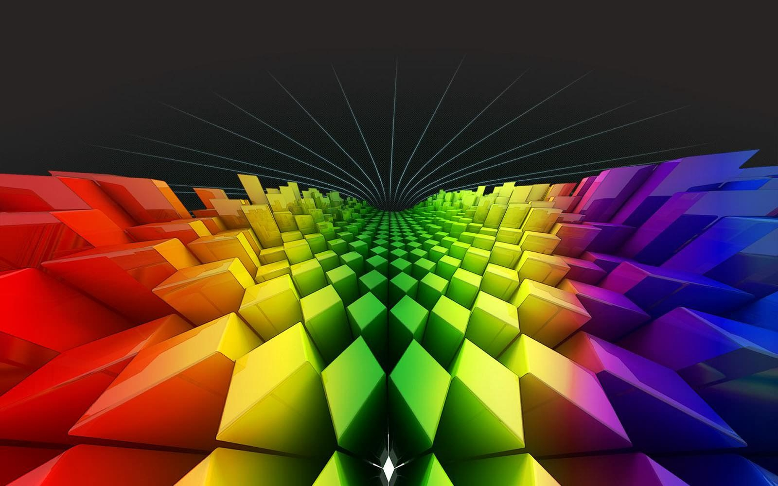 Geometry Rainbow Colours Wallpapers