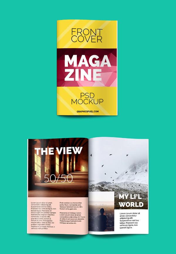Magazine PSD book-mockup