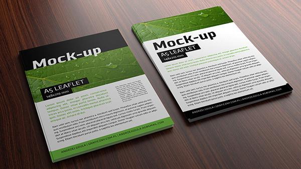 leaflet brochure mockup