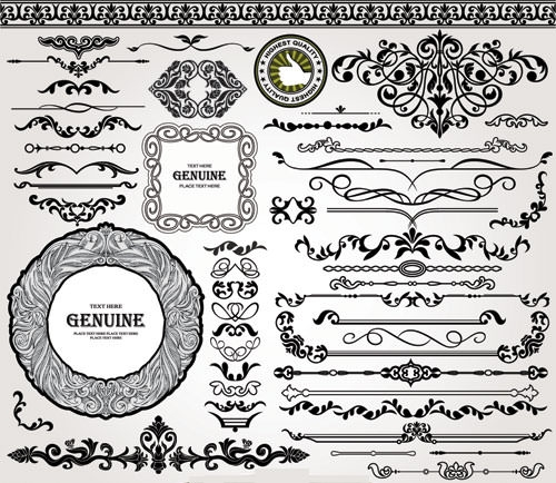 Ornament-vintage-borders-elements-vector-set-03