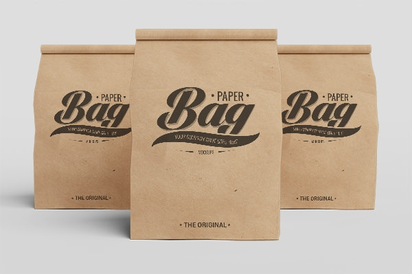 coffee paper bag psd mockup
