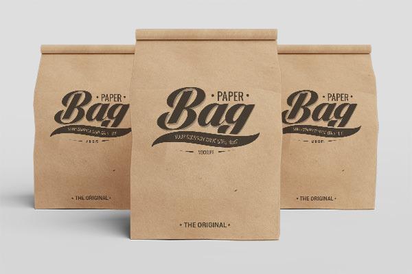 coffee paper bag psd mockup