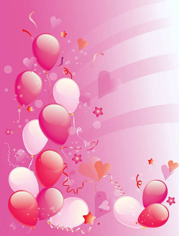 pink birthday background wallpaper
