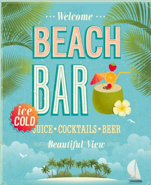 Retro-Beach-Bar-Poster-Vector-Template
