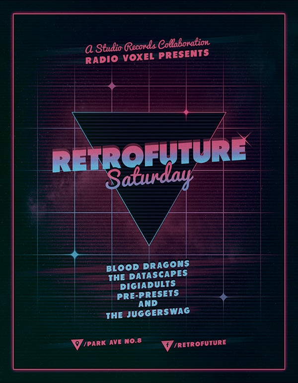psd retro flyer design