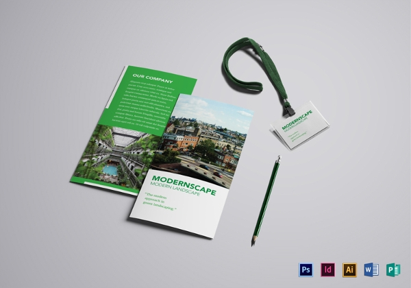 Simple Landscape Brochure Template