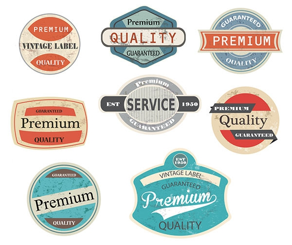 vector vintage labels
