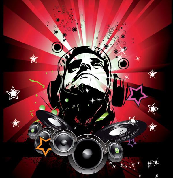 rocking music poster