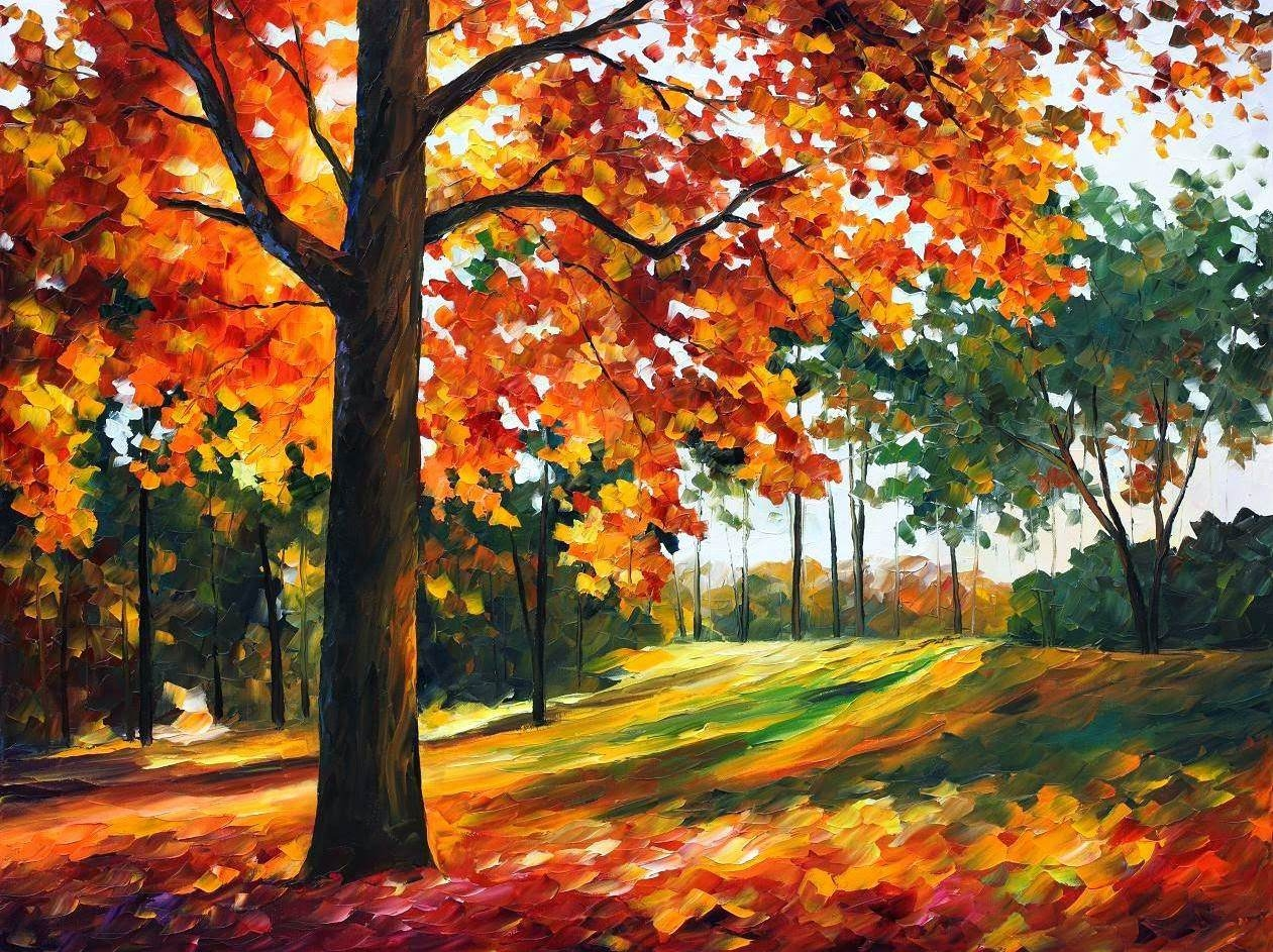autumn fall painting wallpaper
