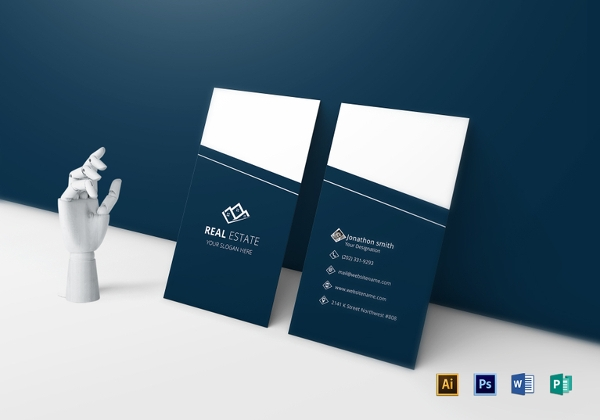 Free PSD Real Estate Business Card Designs - Real estate business card template