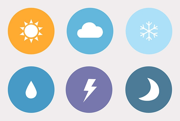 free-psd-flat-weather-icons