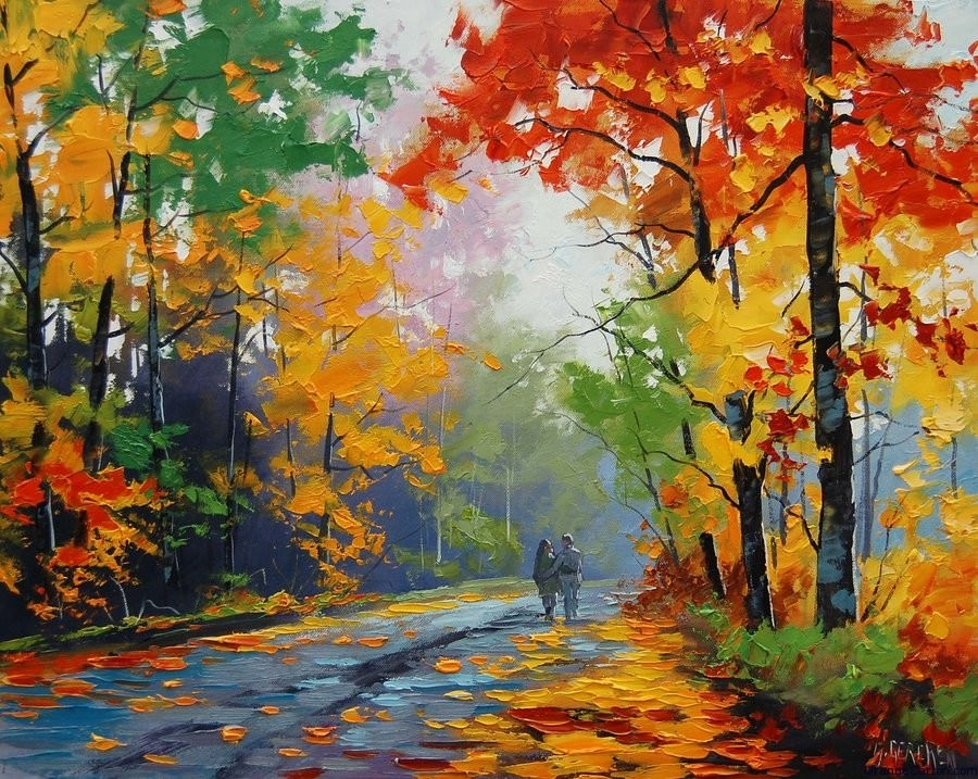 15 landscape paintings of nature for Watercolor scenes beginners