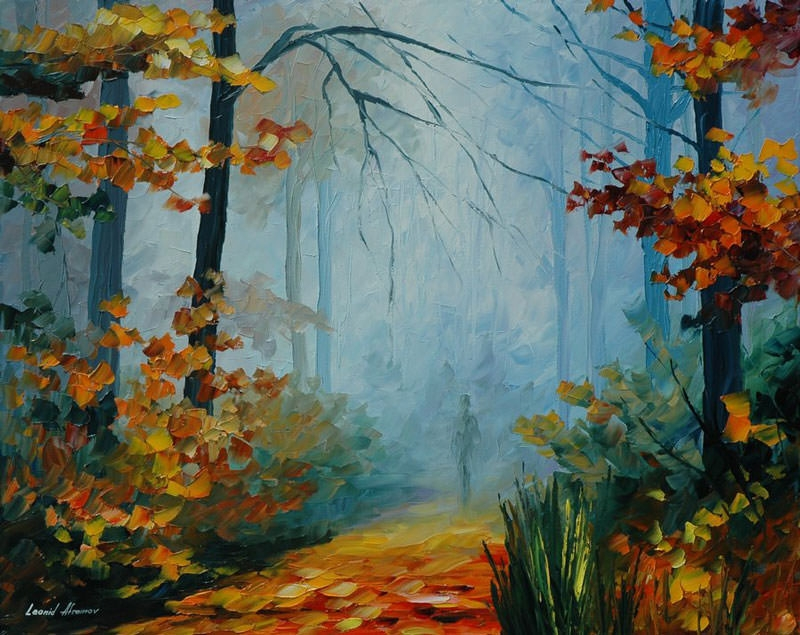 nature's scenery oil painting