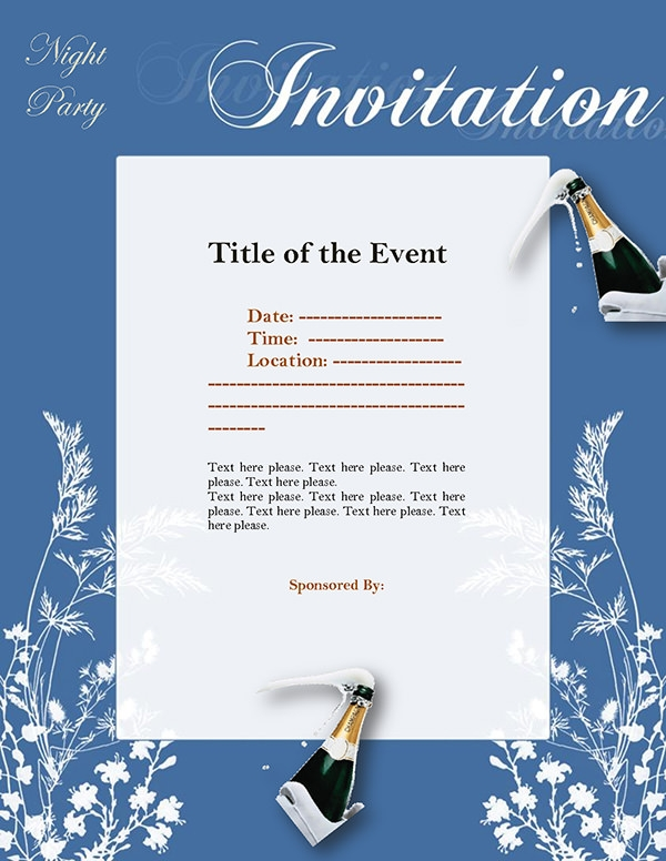 night-party-invitations