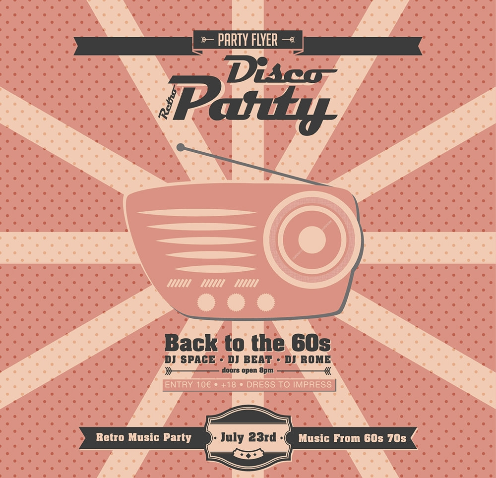 retro-party-invitations