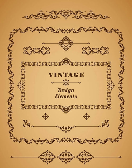vintage border design elements