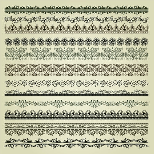 vector pattern vintage borders