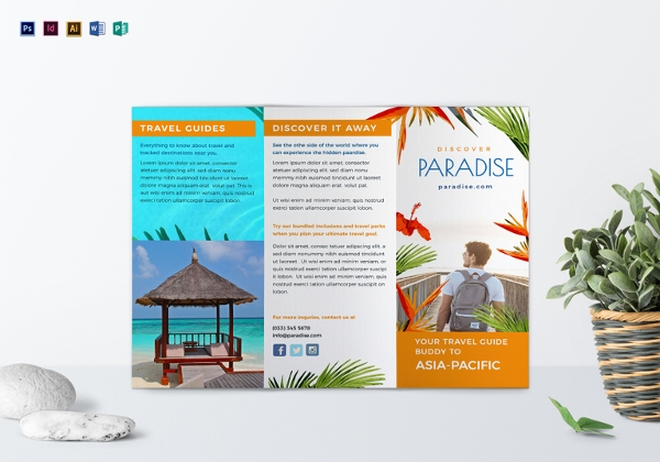 travel Tri Fold Brochure Template