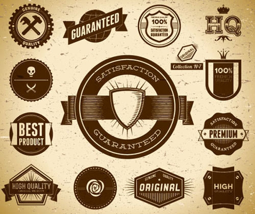 vector vintage label designs