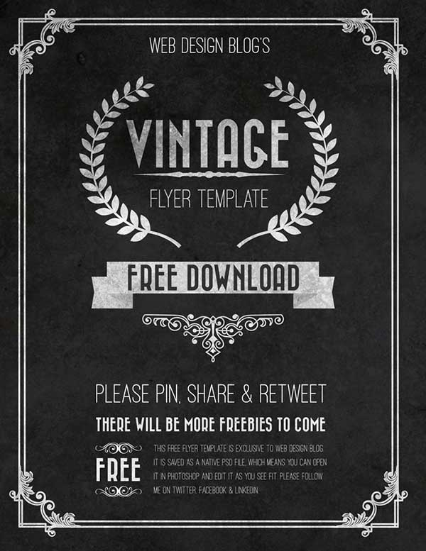 psd vintage flyer design