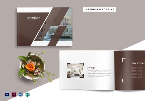 28 pages interior design magazine template - Interior Design Pages