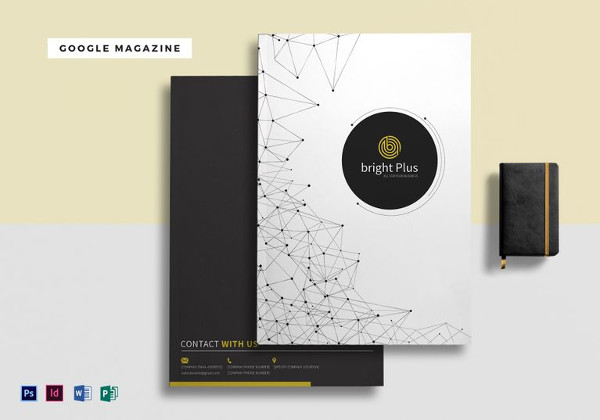 A4 Google Magazine Template