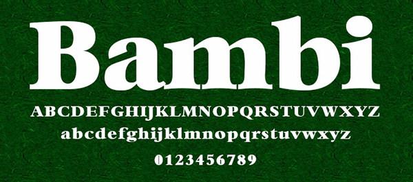Bambi-Bold-font