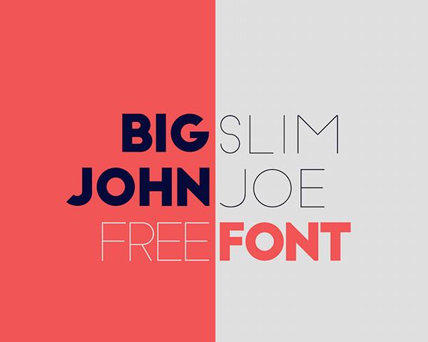Big-John-Slim-Joe-free-font