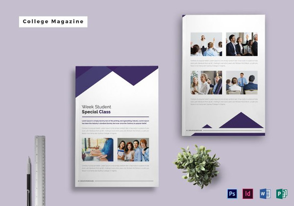 College Magazine Template