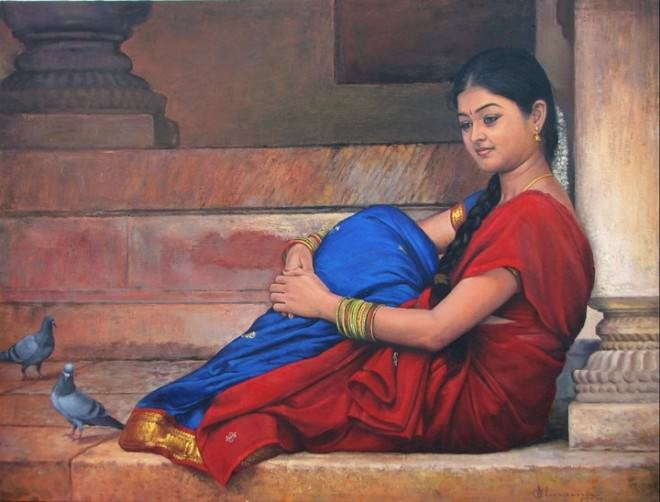 South-Indian-Women-Paintings