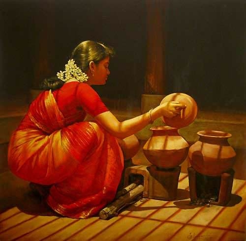 South-Indian style Women-Painting
