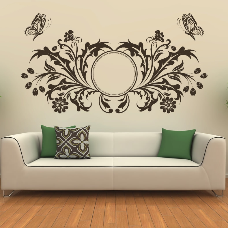 15 wall paintings psd vector eps jpg download for Stencil wall art